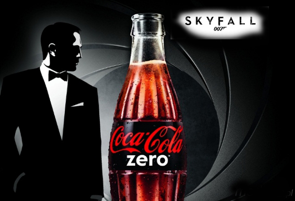 Coca Cola 007.  Coca Cola Zero partners James Bond for Skyfall