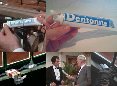 Dentonite James Bond 007's toothpaste tube
