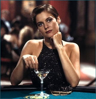 Carey Lowell  as Pam Bouvier from Licence To Kill  Shaken not Stirred