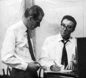 George Martin with Peter Sellers