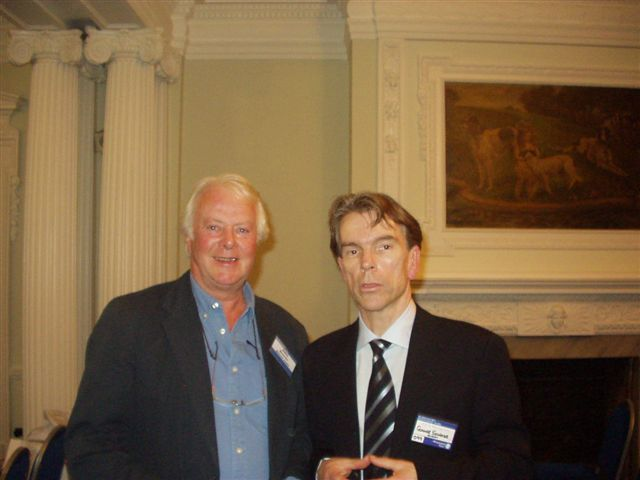 John Grover (Editor 5 bondfilms) with Gunnar Schäfer