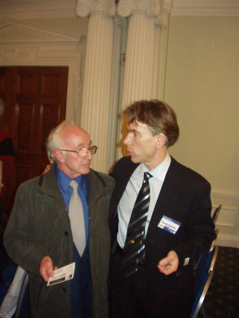 Alec Mills (unit director) with President Gunnar Schäfer