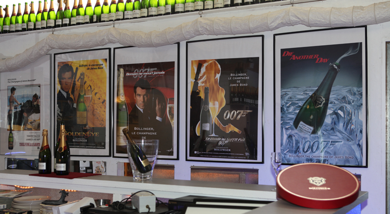 Bollinger Champagne Bar in James Bond 007 Museum Nybro Sweden
