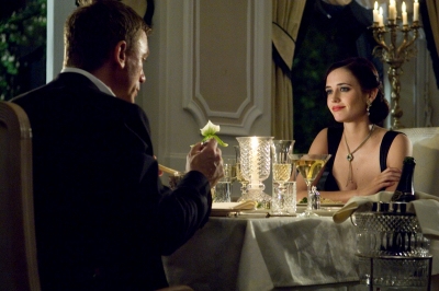 James Bond Daniel Craig,Vesper Eva Green Grandhotel Pupp Grand Restaurant,