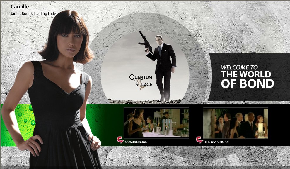 See comercial from Heineken in Quantum of Solace
