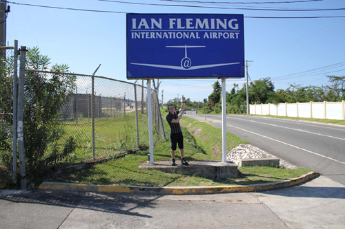 Mr James Bond at the Ian Fleming International Airport