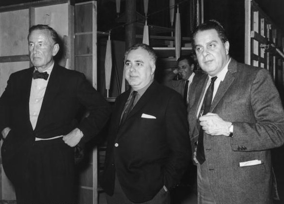 Ian Fleming,  Harry Salzman and Ailbert R. Broccoli