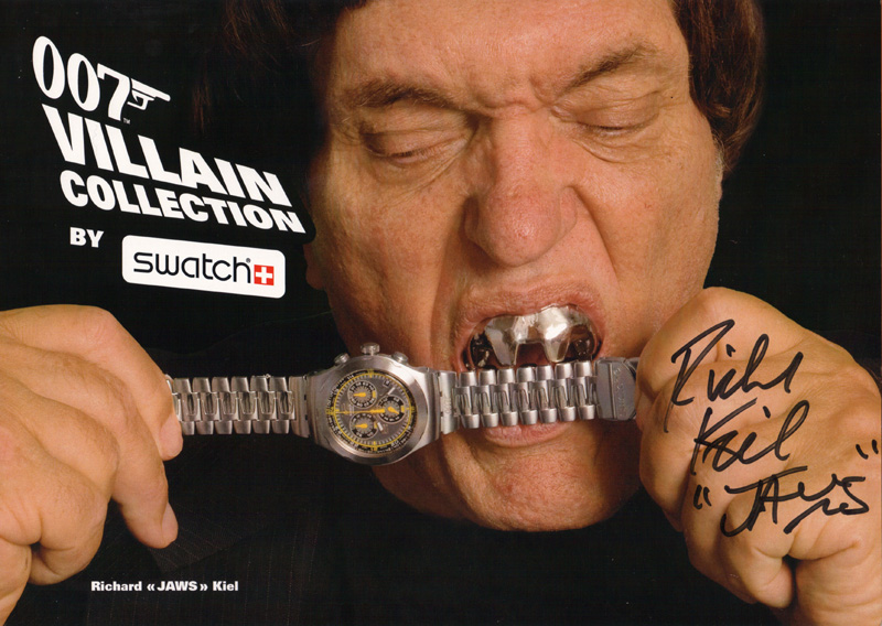 Richard Kiel («Jaws» in «The Spy who Loved Me»),