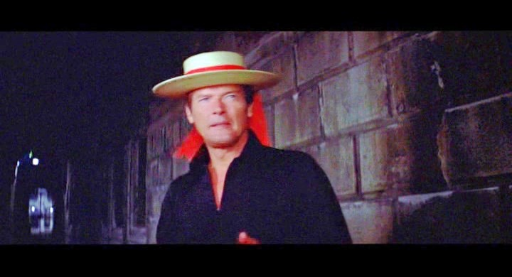 Roger Moore James Bond used the Gondola Hat in a scene from Venice in the Bond movie Moonraker 1979