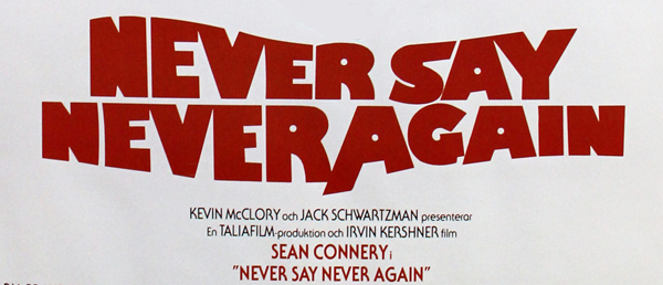 Never Say Never Again (1983)  Sean Connery