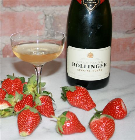 Champagne Bollinger Speciell Cuvee`  WITH STRAWBERRY
