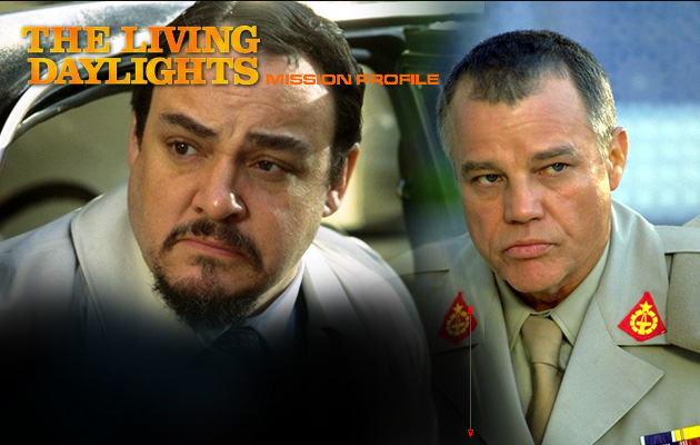 General Leonid Pushkin (John Rhys-Davies), Brad Whitaker (Joe Don Baker)