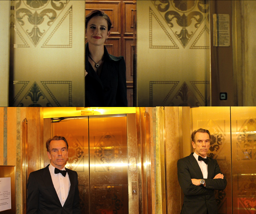THE ELEVATOR IN HOTEL SPLENDIDE Bond James in Casino Royale (2006) Place ... Montenegro Grandhotel Pupp