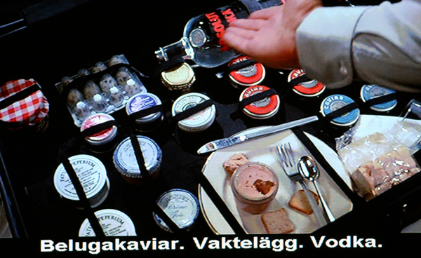 "Absolut Vodka 50% från Sweden in ""Never Say Never Again"""